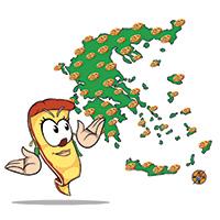 Οι περιοχές που πληροφορεί το theloPizza.gr για καταστηματα pizza delivery